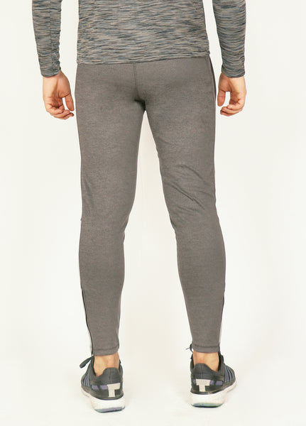 Matt Grey Slim-Fit Trackpants