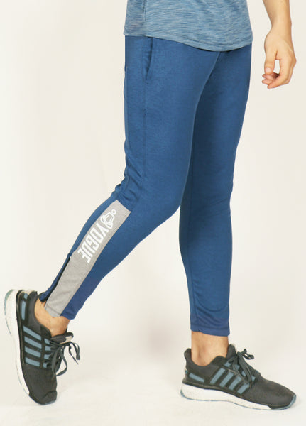 Indigo Blue Slim-Fit Trackpants