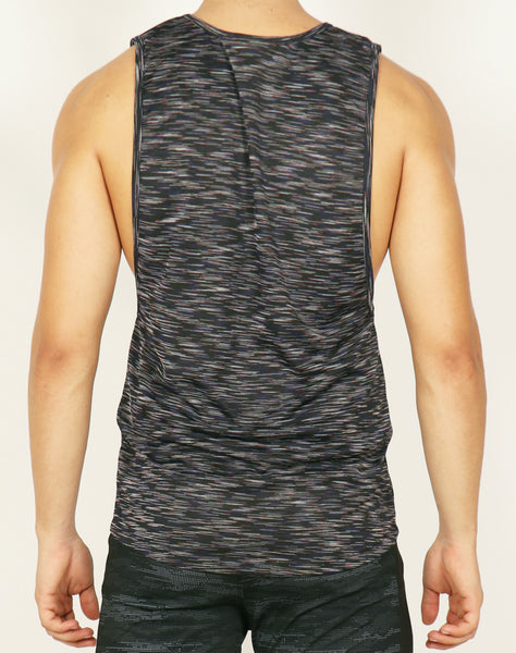 Black Texture Yogue Tank