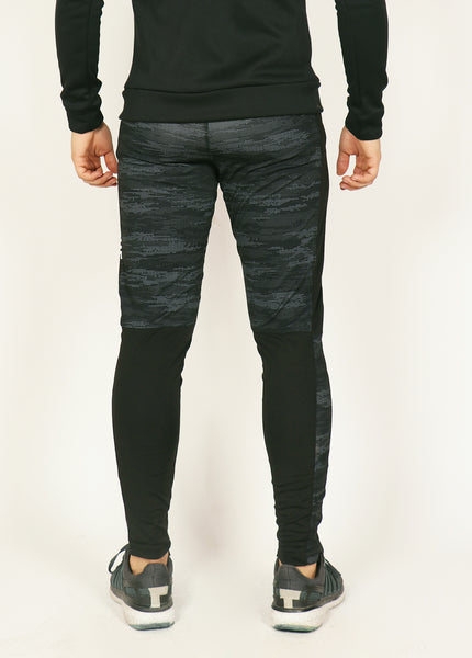 Black MicroDots Men's Running Tights