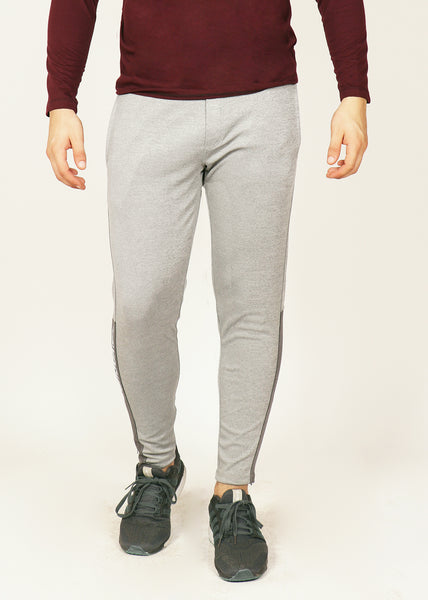 Light Grey Slim-Fit Trackpants