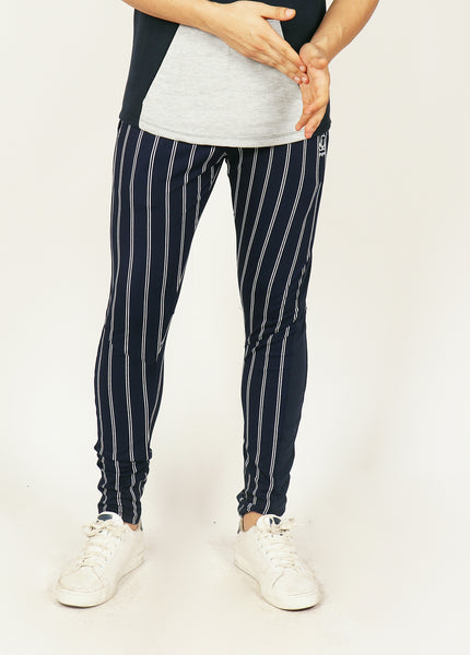 Navy PinStripes Men's Running Tights