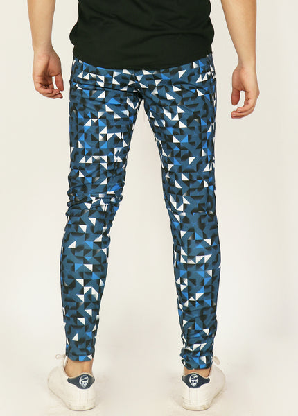 Blue Slim-Fit Trackpants - Tripping Triangles
