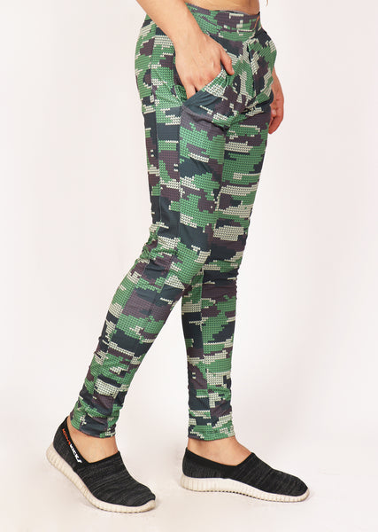 Rainforest Camo Slim-Fit Trackpants