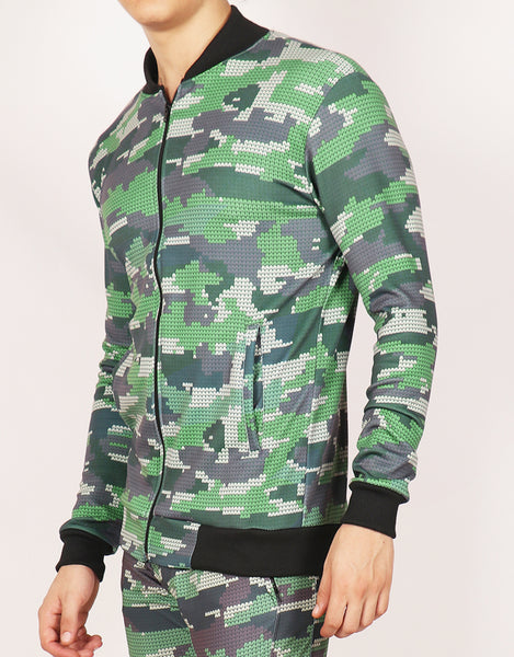 Rainforest Camo Bomber Jacket
