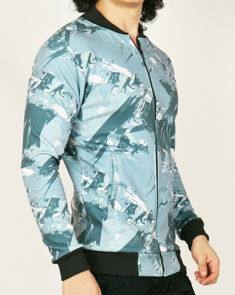 Grey Bomber Jacket - Dry Ice