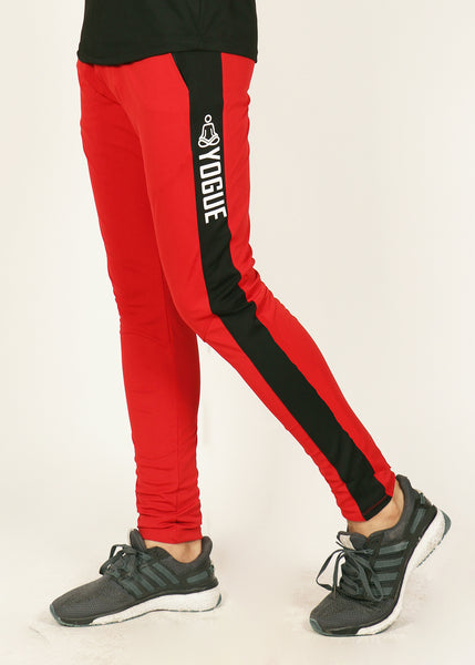 Red & Black Men's Running Tights