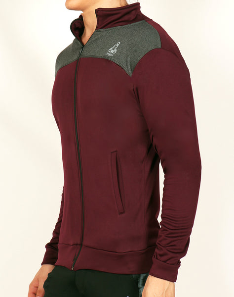 Wine Red & Grey Jacket