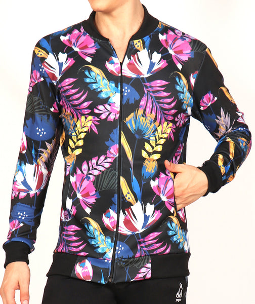 Floral Slim Fit Men's Jacket