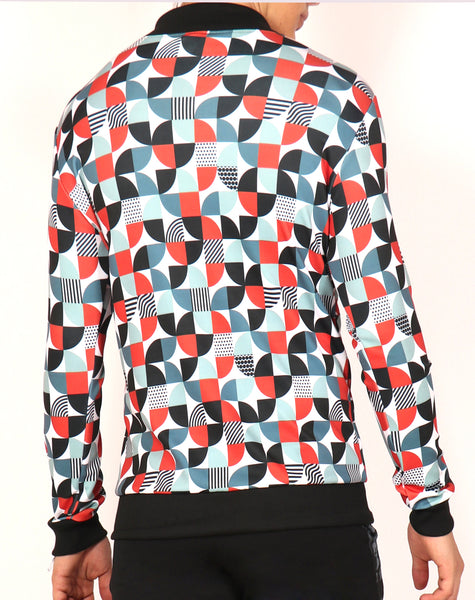 Quarter Circles Bomber Jacket
