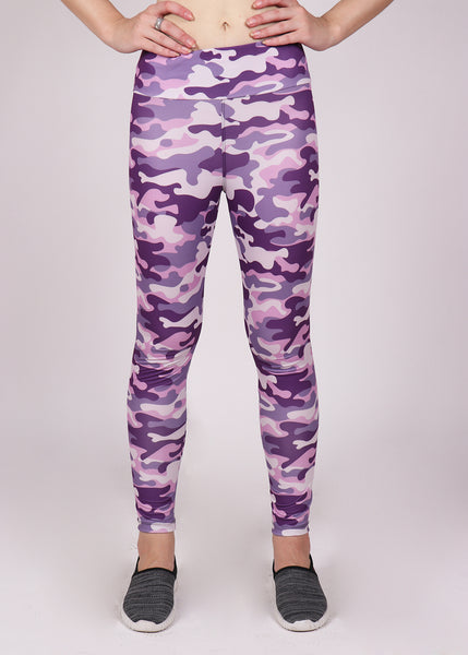 Pink & Purple Camo Leggings