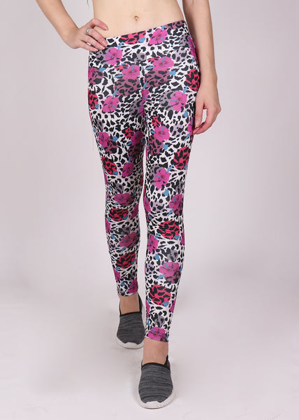 Coral Leopard Leggings