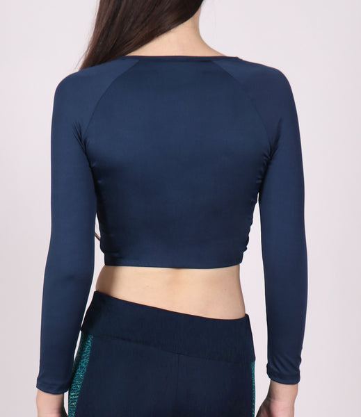 Blue Crop Zipper