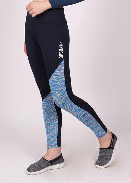 Shop The Look - Crop Zipper + Leggings - Navy Sky Texture