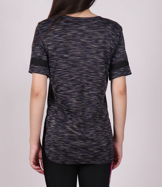 Black SpaceDyed Long T-Shirt