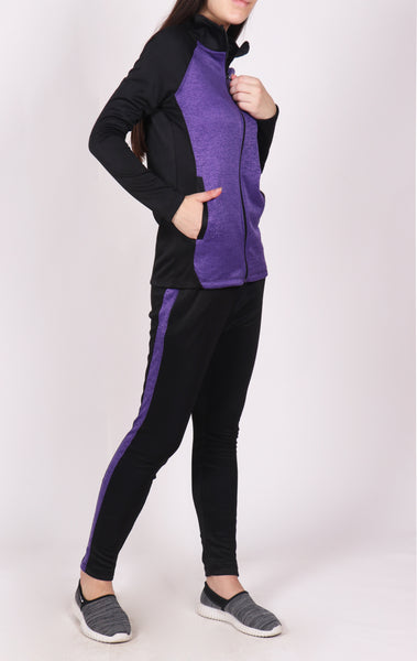 Purple and Black Tracksuit