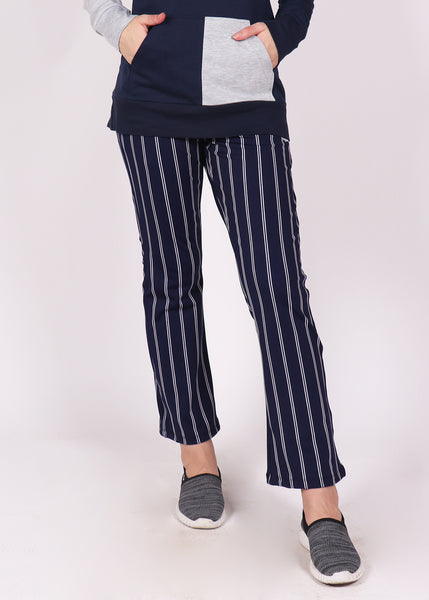 Navy Stripes Bell Bottoms