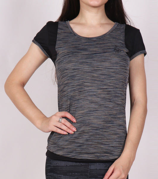 Grey Black Racerback T-Shirt
