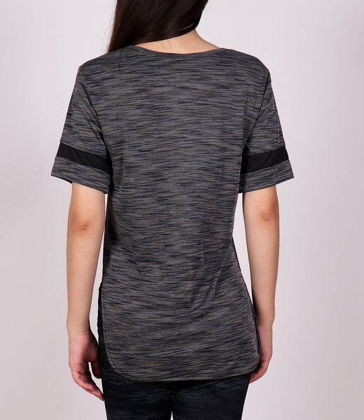 Deep Grey Long T-Shirt with Glitter Logo