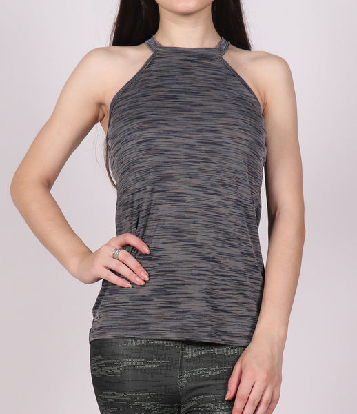 Grey Texture Halter Tank Top