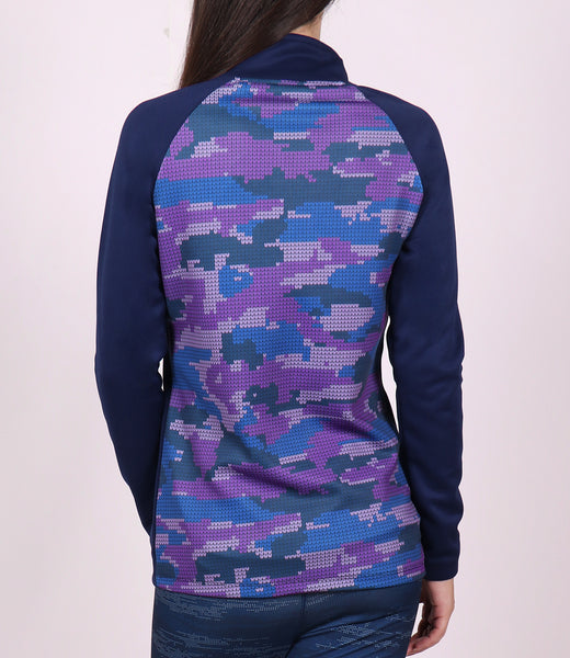 Magenta Camo Slim Fit Jacket