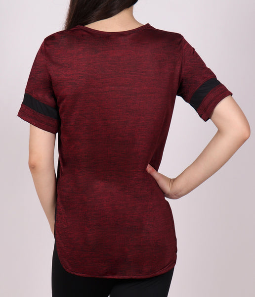 Wine Red Texture Long T-Shirt
