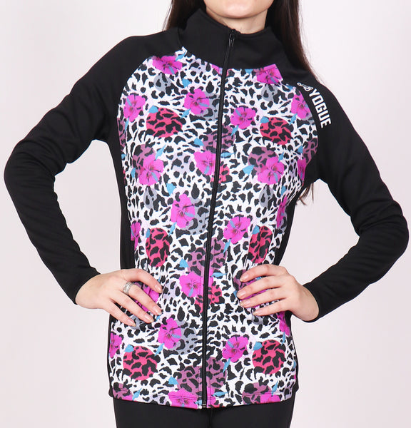 Coral Leopard Slim Fit Jacket