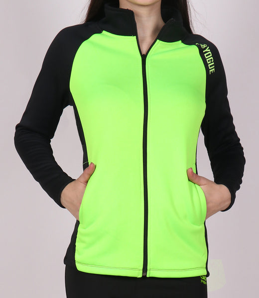 Neon Green & Black Slim Fit Jacket