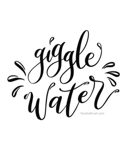 Giggle Water Home Decor Black and White Print - Shipping Included