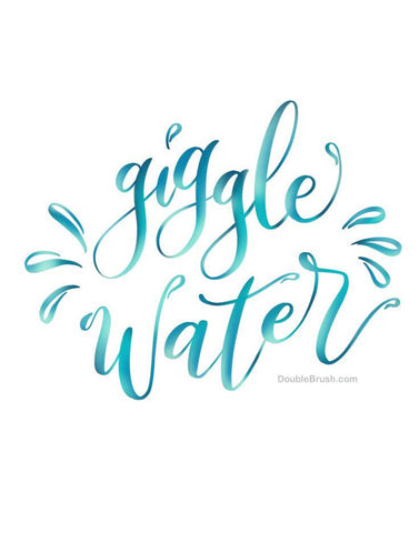 Giggle Water Home Decor Print - Shipping Included