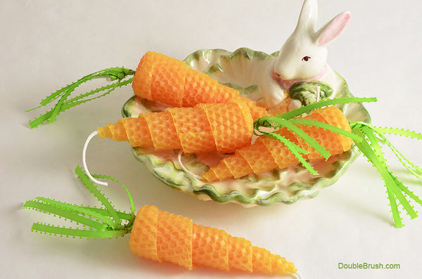 Baby Carrot Candles Set of 4 - Shipping Included