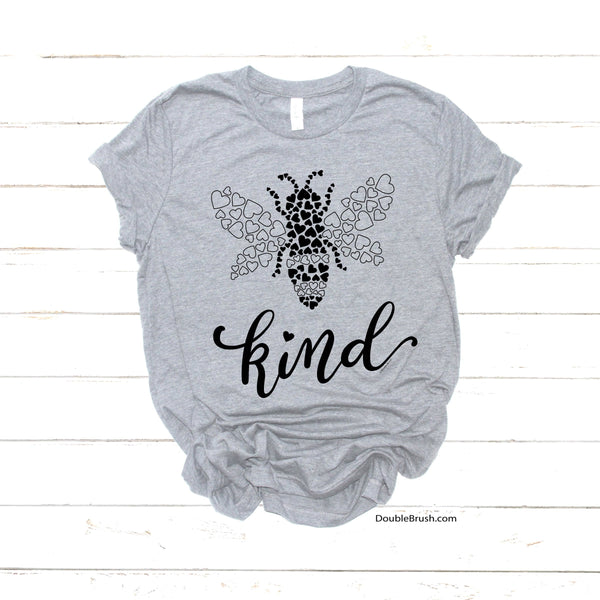 Be Kind Shirt Bee Kind Tshirt - Unique Bee Hearts Insect Design