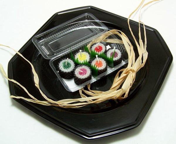 Kawaii Sushi Candle Cake Toppers 6 Piece Set