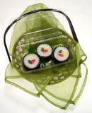 Sushi Candles Gift Set 3 Beeswax Rolled Candles in Bento