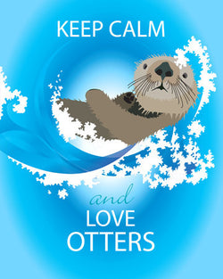 Keep Calm and Love Otters Wall Art Print