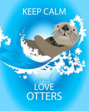 SALE Keep Calm and Love Otters Print