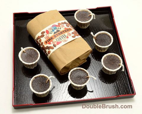 Coffee Fire Starters 6 Piece Set - Shipping Included