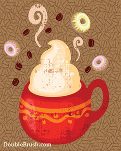 SALE Coffee and Donuts Print