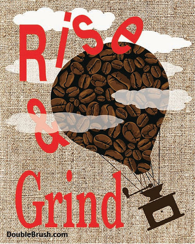 SALE Rise and Grind Original Coffee Art Print