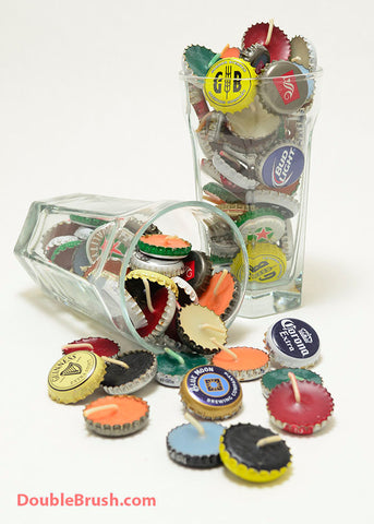 100 Beer Cap Candles Beeswax US Shipping Included