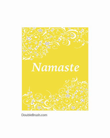 Namaste Yoga Print Namaste Art Print Yoga Namaste Decor Yoga Decor Yoga Home Decor Yoga Inspired Yoga Art Yoga Wall Art Yellow and White