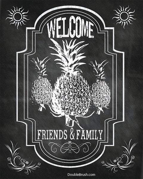 SALE Welcome Pineapple Home Decor Chalkboard style print
