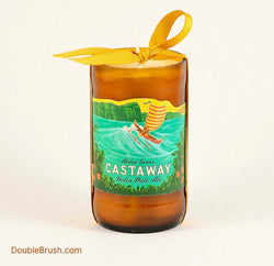 Castaway Upcycled Bottle Candle with US Shipping Included