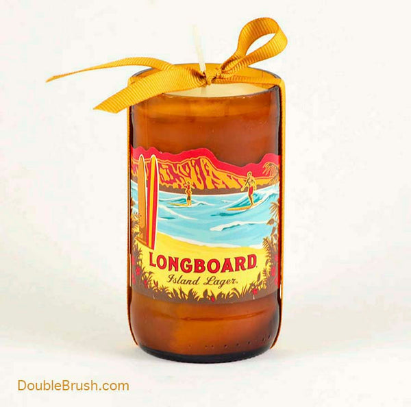 Kona Brew Candle Longboard Recycled Bottle US Shipping Included