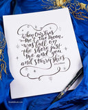 For You I'd Chase a Rainbow Hawaii Song Lyrics by Kalapana Print