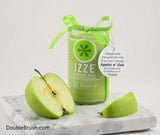 Izze Candle Sparkling Apple Recycled Soda Bottle