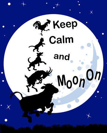 SALE Keep Calm and Moon On Print