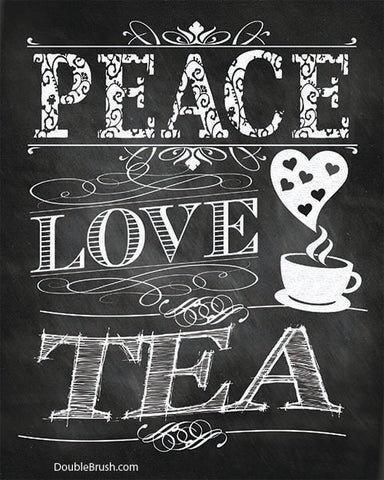 Peace Love Tea Kitchen Print - Shipping Included