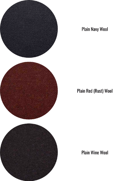 plain colour wool