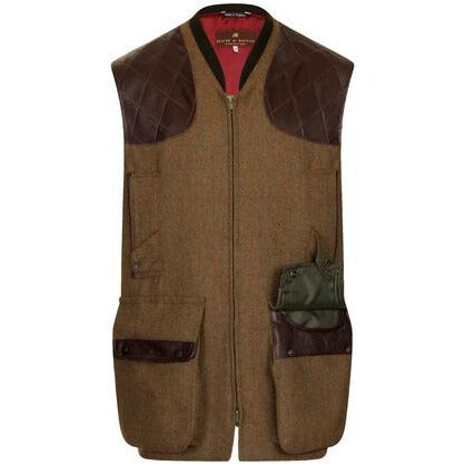 Beaver of Bolton Bespoke Men's Zip Fronted Tweed Shoot Vest / Gilet-Equestrian Co.